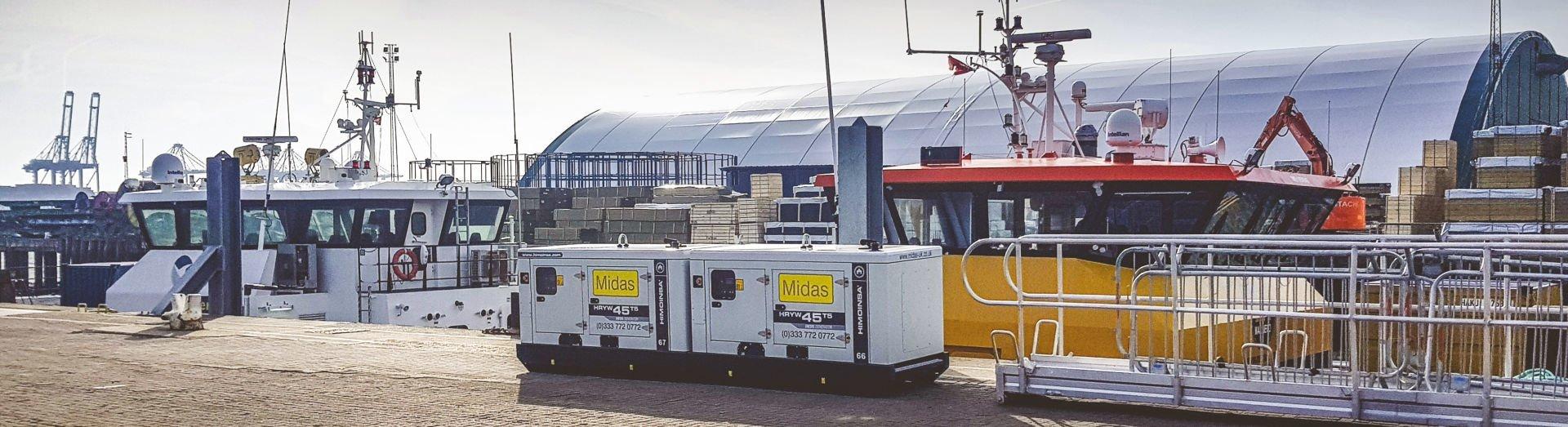 diesel generator hire marine offshore test#1