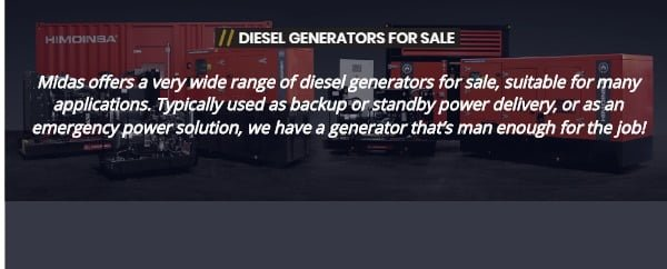 DIESEL GENERATORS FOR SALE SUFFOLK